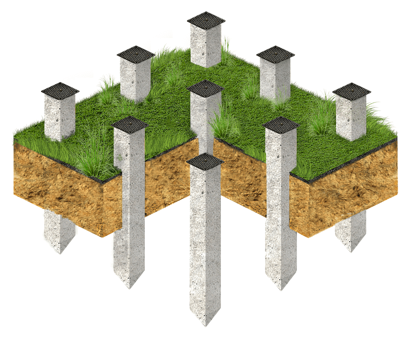 фундаментные сваи бетонные